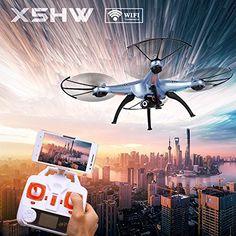Syma X5HW-I Drone FPV con Video Cámara WayIn® 2.4Ghz 4CH 6 Axis Cuadricóptero Dron Wifi con Modo Headless y Función Alto mantenimiento - http://www.midronepro.com/producto/syma-x5hw-i-drone-fpv-con-video-camara-wayin-2-4ghz-4ch-6-axis-cuadricoptero-dron-wifi-con-modo-headless-y-funcion-alto-mantenimiento/