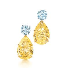 Tiffany & Co. Yellow and white diamond earrings