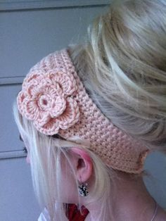 Crochet Flower Headband/ Earwarmer Pick your by MakeItMineCrochet