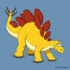 Cartoon Stegosaurus from the Jurassic period