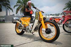 StreetCub Custom Fat n' Wide - Honda Cub Honda Cub, C90 Honda, Honda Bobber, Motos Honda, Honda Bikes, Scooters Vespa, Scooter Bike, Motorcycle Bike, Motos Vintage