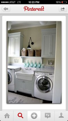 Love this set up for laundry room with sink