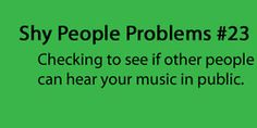 Shy people problem #23
