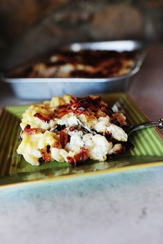 Fancy Mac and Cheese by Ree Drummond / The Pioneer Woman. This looks absurdly delish. And I crazily want to put in olives? Too crazy? Maybe. This recipe has goat cheese in it. And mushrooms and bacon. So much good stuff.