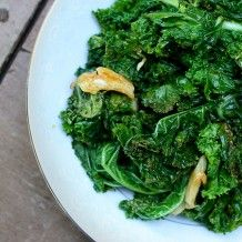 Kale with Lemon & Garlic