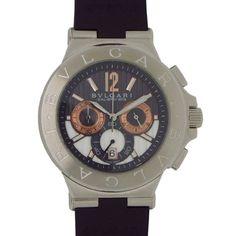 b6274ef466c Bulgari Diagono Calibro 303 Chronograph Black Rubber Mens Watch  DG42C14SWGSDCH