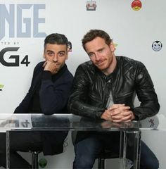 With Oscar Isaac - 2015 San Diego Comic-Con  (X-Men: Apocalypse)