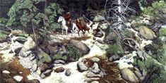 Bev Doolittle! Are there 13 or 14 indians in this painting?