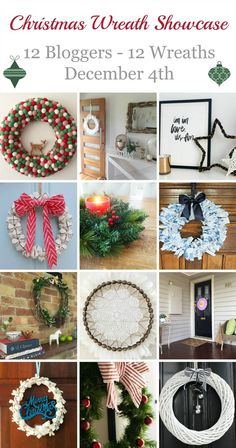 We're so excited to be one of 12 bloggers featured in this Christmas wreath showcase. See all the wreaths on the blog!