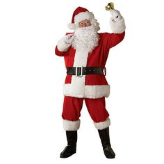 Rubie's Costumes X-Large Regal Regency Plush Santa Suit Costume for Adult, Adult Unisex, Size: XL, Multicolor