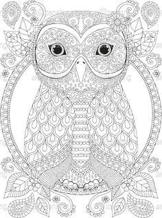 Owl Coloring Pages, Coloring Pages For Grown Ups, Spring Coloring Pages, Cat Coloring Page, Adult Coloring Book Pages, Coloring Book Art, Printable Adult Coloring Pages, Mandala Coloring Pages, Coloring Sheets