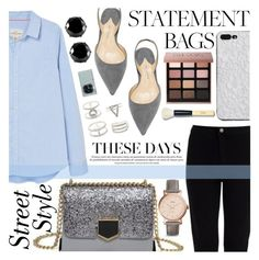 """""""SHINE ON"""" by tamsy13 on Polyvore featuring Bobbi Brown Cosmetics, West Coast Jewelry, FOSSIL, Charlotte Russe, Samsung, polyvorecommunity, polyvoreeditorial and statementbags"""