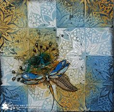 Dragonfly canvas by Marleen. | Art Anthology