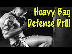 Heavy Bag Defense Drill for Muay Thai Fight Techniques, Martial Arts Techniques, Self Defense Techniques, Mma Workout, Kickboxing Workout, Gym Workouts, Martial Arts Workout, Martial Arts Training, Aikido