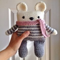 Gray+striped+teddy+bear.+Ready+to+ship.+by+LinaMarieDolls+on+Etsy