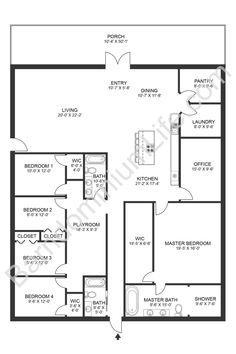 The Seven Best 4 Bedroom Barndominium Floor Plans with Pictures Barn Homes Floor Plans, Metal House Plans, Pole Barn House Plans, Pole Barn Homes, Dream House Plans, House Floor Plans, Home Design Floor Plans, Garage Plans, Cool House Plans