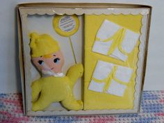 Vintage Styletown Layettes baby towel bath gift set with Terry