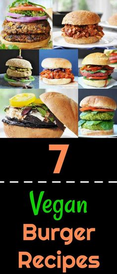 7 vegan burger and B