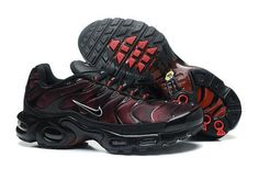 Nike Air Max 97 Nike Air Max TN Red Black [Nike Air Max TN - Fabulous Nike Air Max TN Red Black shoes with red stitching do look very attractive. In addition, the Nike swoosh with white outline does add much beauty to the Nike Air Max Tn, Tn Nike, Cheap Nike Air Max, Nike Shoes Cheap, Nike Air Jordan Retro, Nike Red Sneakers, Air Max Sneakers, Sneakers Fashion, Michael Jordan