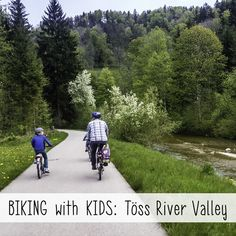 Family-friendly bike ride in the Töss valley east of Zurich. The bike route follows a small river on paved path,  mostly separate from traffic in fields and forests. Lots of places to picnic and play.