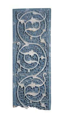 Tiles with spiral vines from the Mausoleum of Bayan Qulï Khan