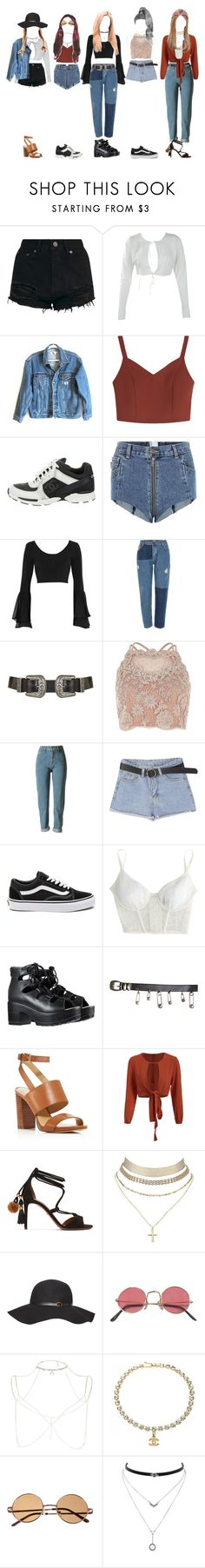 """""""- summer fashion"""" by xxeucliffexx ❤ liked on Polyvore featuring Boohoo, Calvin Klein Jeans, Chanel, Vetements, River Island, Topshop, Vans, Kiki de Montparnasse, Versace and MICHAEL Michael Kors"""