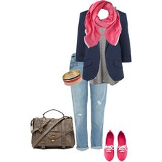 Going to class, created by cmaes03 on Polyvore