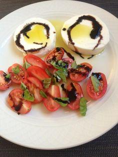 grape tomatoes and basil,Lioni Latticini mozzarella,Decocream aceto balsamico verdolio extra virgin