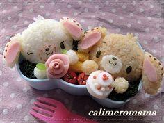 Happy birthday bento ♥ Bento Kawaii Bento, Cute Bento, Bento Recipes, Bento Ideas, Cute Food, Good Food, Bento Tutorial, Japanese Food Art, Sushi Art