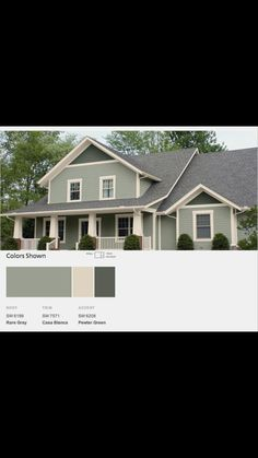 awesome 40 Exterior Paint Schemes For Bungalows House Exterior Color Schemes, Exterior Paint Colors For House, Paint Colors For Home, Exterior Colors, Exterior Design, Paint Colours, Siding Colors, Bungalows, Cape Cod Exterior