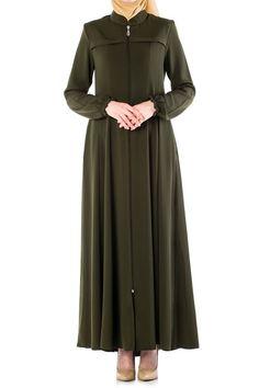 Butikzade - Mevlana Ferace DF-1006-03-Yeşil The Dress, Duster Coat, Dresses For Work, Jackets, Fashion, Down Jackets, Moda, Fashion Styles, Jacket