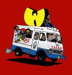 wutang clan illustrations - ice cream truck