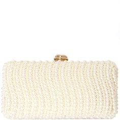CLUTCH PÉROLA ONDAS - OFF WHITE