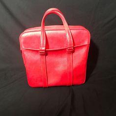 Vintage Red Samsonite Silhouette Overnight Carry On Tote Bag #Samsonite