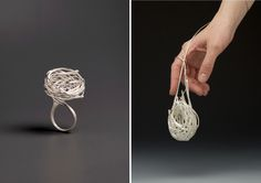 Heather Bayless combines nature and art in beautifully woven nest-inspired jewelry