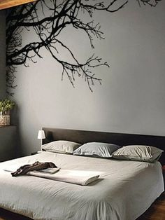 Large Tree Wall Decal Sticker - Semi-Gloss Black Tree Branches, Tall X Wide, Left to Right. Removable, No Paint Needed, Tree Branch Wall Stencil The Easy Way. Tree Wall Art, Vinyl Wall Decals, Vinyl Art, Bedroom Wall Decals, Decals For Walls, Tree Decals, Black Tree, Cute Dorm Rooms, Wall Decor Stickers