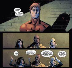 Defenders – Kingpins of New York Marvel Dc Comics, Marvel Jokes, Marvel Funny, Marvel Avengers, Marvel Defenders, Disney Marvel, Daredevil Funny, Daredevil Artwork, Marvel's Daredevil