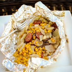 Easy Hobo Dinner, Tin Foil Dinner perfect for the whole family. Recipe on Yummly