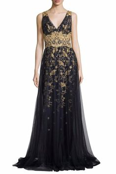 Notte by Marchesa Floral Tulle Gown