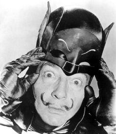 Salvador Dali as Batman - Vintage Photographs - Costume Party