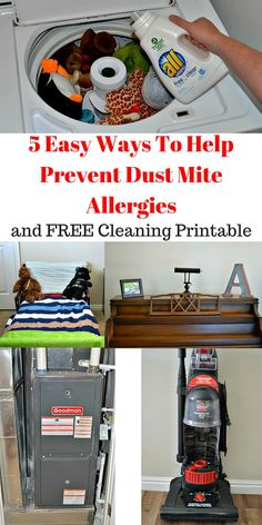 Keep dust mite allergies under control with these 5 easy to do tips and cleaning schedule. AD #FreeToBe