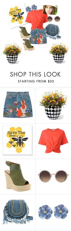 """""""summer gardern feel"""" by missmybaby ❤ liked on Polyvore featuring interior, interiors, interior design, home, home decor, interior decorating, Gucci, Grandin Road, T By Alexander Wang and Mojo Moxy"""