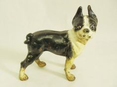 Lot: Antique Hubley Cast Iron Boston terrier Door Stop, Lot Number: 0055, Starting Bid: $50, Auctioneer: Fine Things Store LLC, Auction: Antiques & Collectibles No Buyer's Premium, Date: August 17th, 2017 CDT