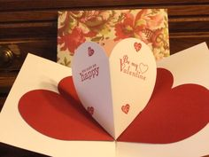 Pop up heart card pic #2