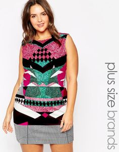 Plus Size Aztec Bodycon Dress