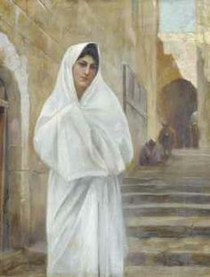 by Theodore Jacques Ralli Greek Paintings, European Paintings, The Woman In White, Classical Period, Painter Artist, Grand Bazaar, 10 Picture, Lausanne, Global Art
