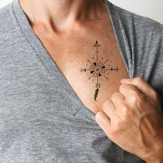 Arrow Compass temporary tattoo. Buy here >>>...