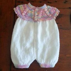 Top Down Romper Suit - Marianna / Lisa King Maclean   Small / Early Newborn        This adorable little romper suit was knitted by Lisa Kin...