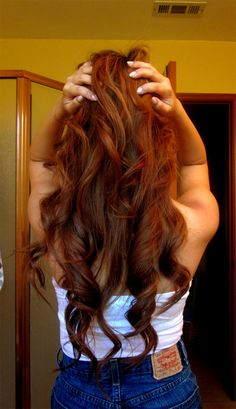 Long & Lovely Auburn Hair | 24 Inch Double Wefted Full Head Clip in Extensions | £94.99 | Available at: http://www.cliphair.co.uk/24-Inch-Double-Wefted-Set-Clip-In-Hair-Extensions-Light-Auburn-30.html