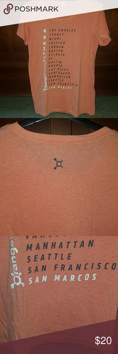 """Orangetheory Fitness """"city T"""" San Marcos is the featured city but it has the big city names as well. It's really soft and comfortable. It's XL but fits me as a medium. Tops Tees - Short Sleeve"""